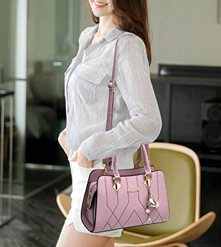 Frauen Einkaufstasche Schultertasche Big Bag Mode Elegant Shopper Bag PU-Leder Messenger Bag Damen Handtasche Green