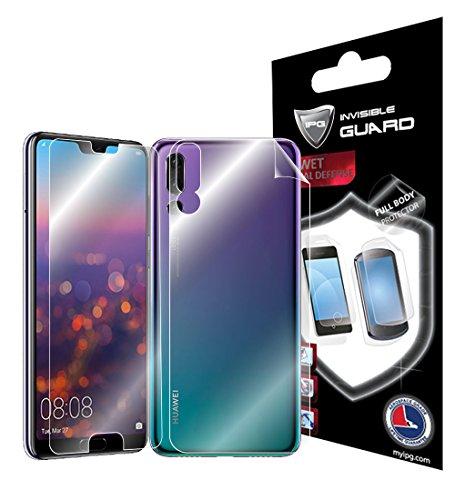 IPG Schutzfolie für Huawei P20 Pro 15,2 cm (15,1 Zoll) Full Body Protector unsichtbar Ultra HD Clear Film Anti Scratch Skin Guard - Glatt/Selbstheilend/Blasenfrei - Narben & Back by Pro Scratch Guard