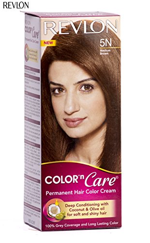 Revlon Color N Care Permanent Hair Color Cream, Medium Brown 5N  available at amazon for Rs.176