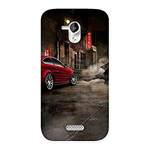 Cute Red Car Impact Multicolor Back Case Cover for Micromax Canvas HD A116