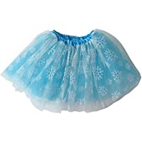 Ballerina Basic Girls Dance Dress-Up Princess Fairy Costume Dance Recital Tutu (Frozen Snowflake Turquoise) by So Sydney