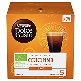 NESCAFÉ Dolce Gusto Colombia Sierra Nevada Lungo Coffee Pods, 12 Capsules (Pack of 3, Total 36 Capsules, 36 Servings)