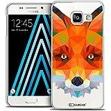 Caseink - Coque Housse Etui Galaxy A3 2016 (A310) [Crystal HD Polygon Series Animal - Rigide - Ultra Fin - Imprimé en France] - Renard