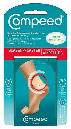 Compeed Blasenpflaster Medium, Große Pflaster, Besonders geeignet für Blasen an den Fersen, 6,8 x 4,2 cm, 1er Pack (1 x 5 Stück)
