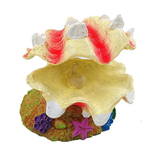Timlatte Aquarium Luftblase Scallop Resin Crafts-Fisch-Behälter-Landschaft Ornament Dekorative Shell Bubblestone