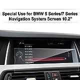 LFOTPP BMW Série 5 Navigation Verre Trempé - Dureté 9H Film Protection GPS Nav Écran Protecteur Vitre (5 7 series 10.2 inch)