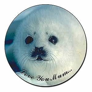 White Sea Lion 'Love You Mum' Fridge Magnet Stocking Filler Christmas Gift
