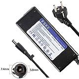 FSKE 90W 19V 4.74A Netzteil 463958-001 609939-001 Laptop Ladegerät für HP 9470M 8460P 6930P 8470P DV6 DV4 DV3 6710 HP 840 G1 2570P 2540P 6470B 8510 2560P 2170P Notebook EUR Power Supply, 7.4 * 5.0mm