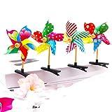 Cuigu 4pcs niño Mignon 3D Molino de Viento Mini Parte–Pinza para el Pelo coloré ARC en Ciel Duckbill en alfiler de Cabello plástico módulos de Regalo Fiesta de cumpleaños, Color Aleatorio