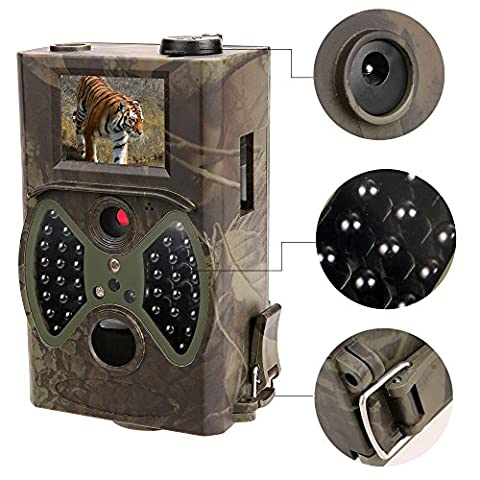 12MP 1080P HD Game Wildlife Trail Hunting Camera Night Vision with Wireless Remote Control 2