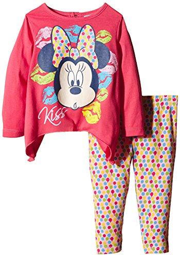 Disney Minnie Mouse-Completo Bimba,    Rosa (Hibiscus) 6 mesi (taglia produttore:6 mesi)