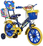 #3: eStofers® Ollmii™ 14 inch Unisex Kids Cycle with Side Wheels (Blue) For 3 to 6 years age group