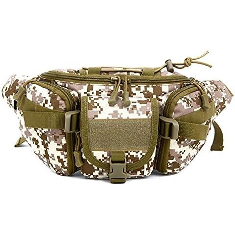 D5column Bolsos Hombre Nylon bolso de la cintura Multifuncional Bolsos Digital Camara Portatil Rinoneras al Aire Libre Bolsos Militares