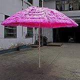 LHSUNTA Ombrello di Paglia 2,8 m Ombrello da Giardino Anti-UV Impermeabile Stile Telone Mercato Ombrello Banana Ombrello Ombrello da Esterno LDFZ
