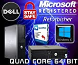 DELL QUAD CORE DESKTOP 1TB 16GB WIFI PC WINDOWS 10 COMPUTER TOWER DVDRW SALE - MAXIMUM COMPUTERS