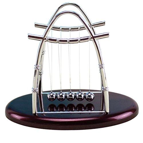 Mamum Newtons Metallkugelstoßpendel, Spielzeug, Kugeln im Gleichgewicht, Wissenschaft, Puzzle, Spaß, Schreibtisch-Spielzeug 22*14*17.5cm wein
