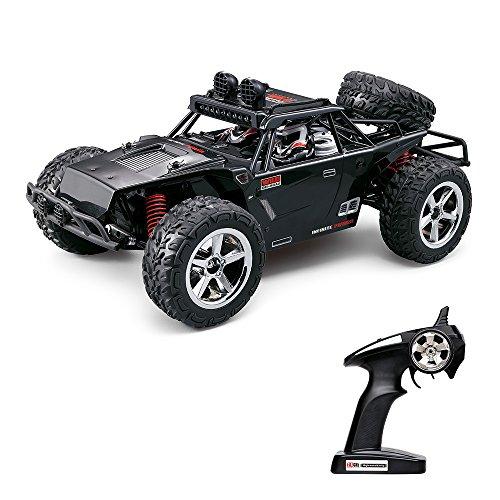 Preisvergleich Produktbild Vatos RC Auto Off Road High Speed 4WD 40km/h Im Maßstab 1:12 Fernbedienung 50M 30 Minuten Spieldauer 2.4GHz Elektro Buggy mit wiederaufladbaren Batterien und Akku (Schwarz)