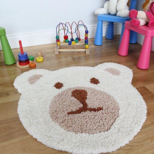 Kinder teddyb r teppich superweich und in cremefarben for Teppich cremefarben