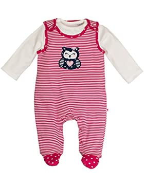SALT AND PEPPER Baby-Mädchen Strampler Nb Playsuit Happy Stripe