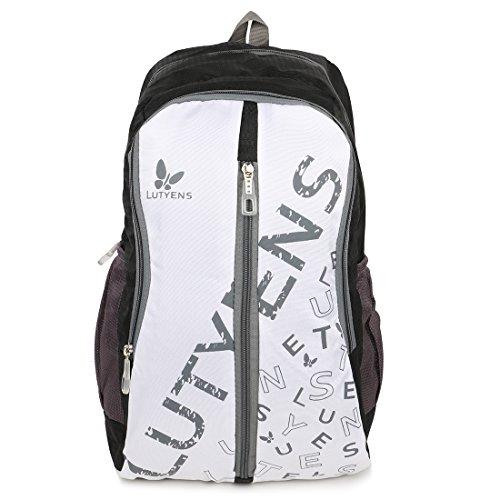 Lutyens 22 Litres Polyester Black School Bag (Lutyens-180)