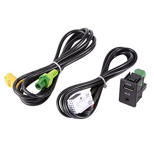 XCSOURCE Commutateur Aux USB + Fil Câble Adaptateur pour BMW 3 5 Series E87 E90 E91 E92 X5 X6 AC516