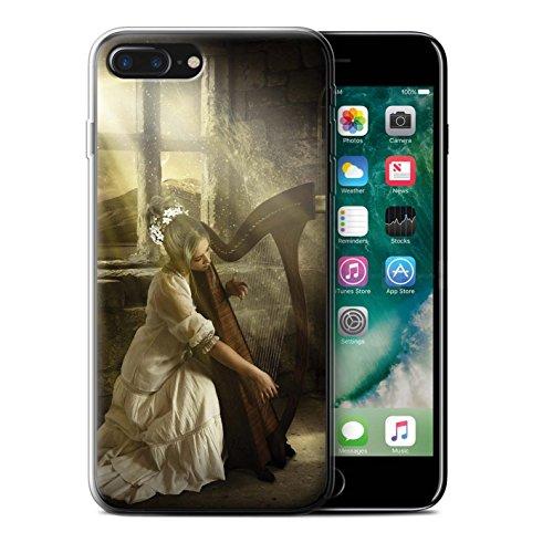 Officiel Elena Dudina Coque / Etui Gel TPU pour Apple iPhone 7 Plus / Harpe/Harpiste Design / Réconfort Musique Collection Harpe/Harpiste