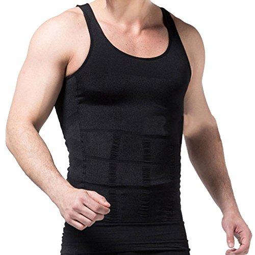 Schlankheits Unterhemd für Männer Gewichtsabnahme Entfernung von Bauchfett Hüftgold Schlankmachender Bodyformer Straffung des Unterbauchs Unterstützung des Rückens Formender Fit (Small Schwarz)