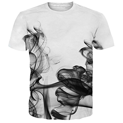 NEWISTAR Unisex Herren Damen Couple 3D T Shirts Tee Short Sleeve Shirts XXL (Sleeve Short Fisch Tee)
