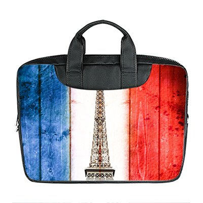 nierte 13.4 Zoll Importiert Nylon Wasserdicht Stoff Laptop Tragbare Schulter Messenger Bag Diy Flagge Design ()
