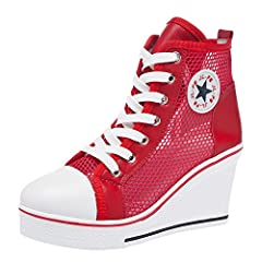 2a3178d0f6b Wedge Trainers Ankle Boots High Top Hidden Heel Wedges Shoes Casual ...