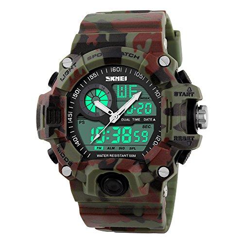 Uomini sport esterno di orologi casual militare Analogico usato  Spedito ovunque in Italia