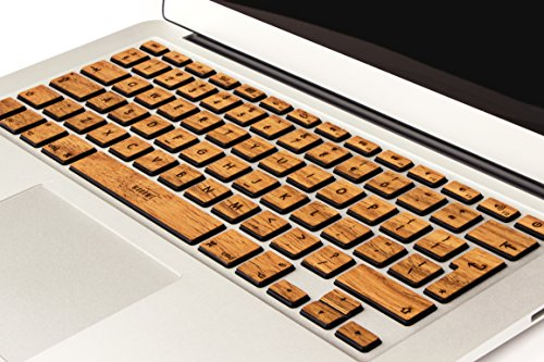 WoodWe Genuine Wood Laptop Keyboard Sticker / Skin for Macbook Pro 13
