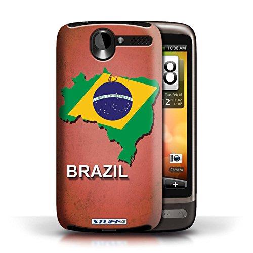 Kobalt® Imprimé Etui / Coque pour HTC Desire G7 / Argentine conception / Série Drapeau Pays Brésil