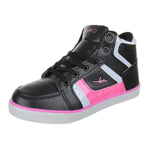 Chaussures femme, 1–10, les loisirs chaussures lacets Sneakers Noir - Noir