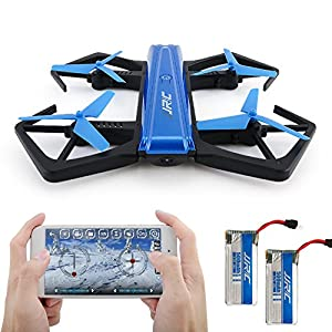 JJRC H43WH Mini RC Drone, Foldable Quadcopter Drone with WIFI FPV 720P HD Camera, Support APP Control, Headless Mode, G-sensor Mode, Altitude Hold RC Quadcopter (Blue) by Xiao kesong