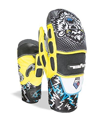 Level Jungen Worldcup JR CF Mitt Handschuhe, Black/Yellow, 8