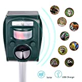 Ulikey Repulsif Chat Ultrason Solaire Chat Chien Exterieur Etanche, Ultrason Chat...