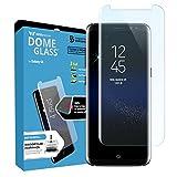Dome Glass Galaxy S8 Ecran Film Protecteur Verre Trempé (Verre de Rechange), Couverture Complète 3D Courbé HD Anti-Empreintes Digitales Whitestone Samsung Galaxy S8 - Remplacer l'écran