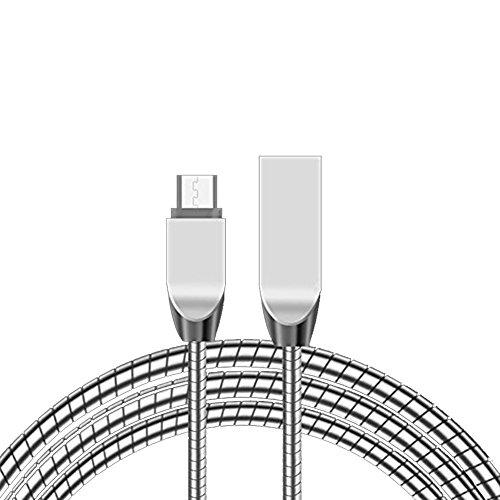 USB-Ladegerät, Micro-USB-Kabel, 1m Zink Legierung Schnell Aufladen und Daten Übertragung Kabel für iPhone, Android ()
