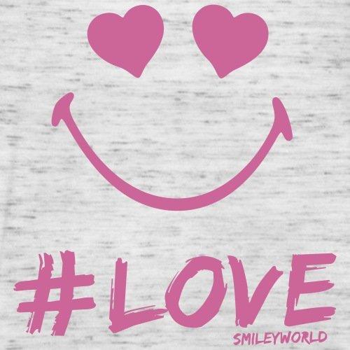 Smiley World Paillettes Love Amoureux Débardeur Femme marque Bella de Spreadshirt® gris marbré
