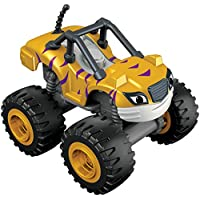 Blaze y los Monster Machines de Nickelodeon - Coche Stripes, Color Amarillo (Mattel CGH56)