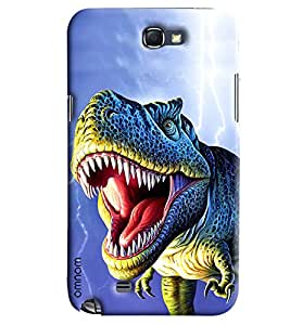Omnam Dinasours Printed Designer Back Cover Case For Samsung Galaxy Note 2