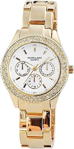 Excellanc Damen-Armbanduhr Analog Quarz verschiedene Materialien 150802500002