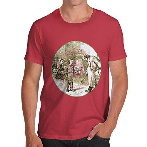 TWISTED ENVY Herren T-Shirt Oliver Twist Illustration Print X-Large Rot