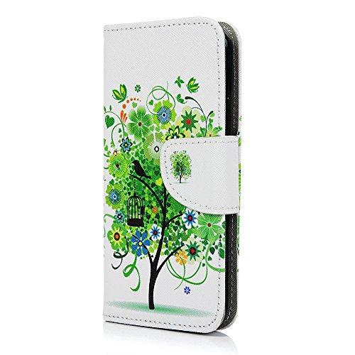 Lanveni Handyhülle für iPhone X Flip Case Cover PU Lederhülle Schutzhülle Magnetverschluss Ledertasche mit Stander Function Brieftasche Card Slot Handy Tasche mit Bunte Gemalt Design (1 x PU Lederhüll Farbe 1