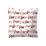 KItipeng Housses de Coussin,Taies d'oreiller,Lin en Coton Oreiller Case Carré Bureau Restaurant Canapé Chambre Salon Décoration Throw Pillow Case Cushion Cover Décor de Maison 45x45 cm Rose Séries...