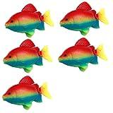 Regenbogen Kunststoff schwimmenden Fisch Dekor für Aquarium 5 Stück Plastik de
