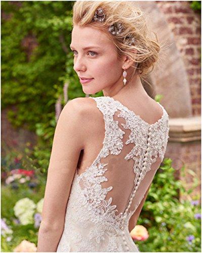 CoCogirls V-Ausschnitt Tank Schulter Perspektive Zurück Tüll Hochzeitskleid Brautkleid Elegant Strand Hochzeitskleider Braut Kleider Champagner