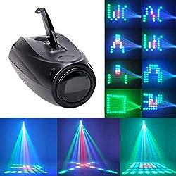 UKing Lampe de Scène 20W RGBW 64 Led Image Projecteur Petite Dirigeable Lumières Commande Vocale Effet Éclairage pour Anniversaire Fête Soirée Disco DJ