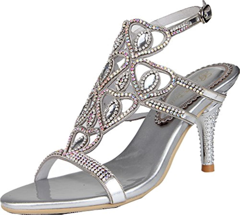 HIGHXE Zapatos de Mujer Cruzada Lazo Calado Moda Pasarela Fino de tacón Alto 35-40 Boca Baja Negro Albaricoque... -